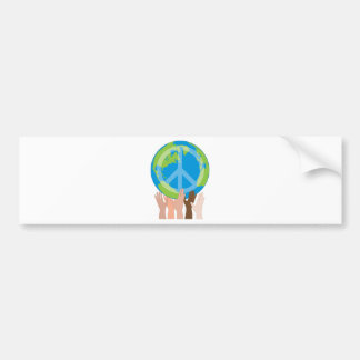 Globe and Hands Bumper Sticker