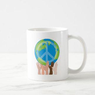 Globe and Hands Coffee Mug