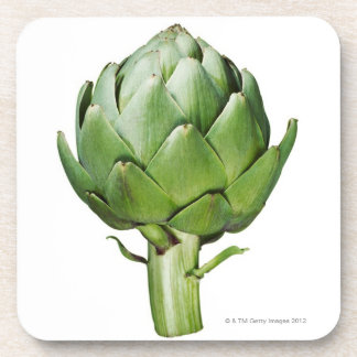 Globe Artichoke on White Background Cut Out Coaster