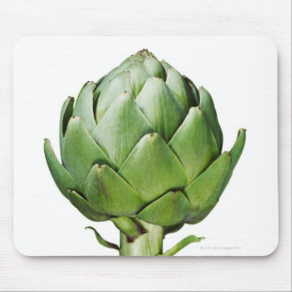 Globe Artichoke on White Background Cut Out Mouse Mat