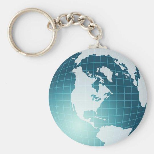 Globe Basic Round Button Key Ring