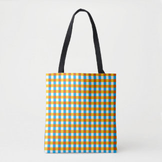 Globe Check all over tote orange back