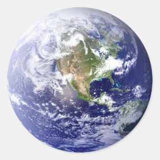 Globe  - Circle Sticker