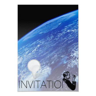 Globe Earth Gentelmen Invitation