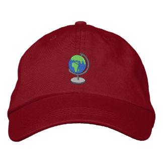 Globe Embroidered Baseball Cap
