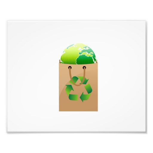 globe in brown shopping bag recycle symbol.png art photo