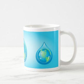 Globe In Waterdrop Classic White Coffee Mug