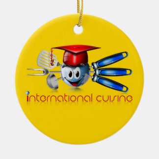 Globe international cuisine christmas ornament