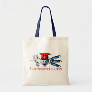 Globe international cuisine tote bag