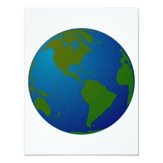 "Globe Invitations 4.25"" X 5.5"" Invitation Card"