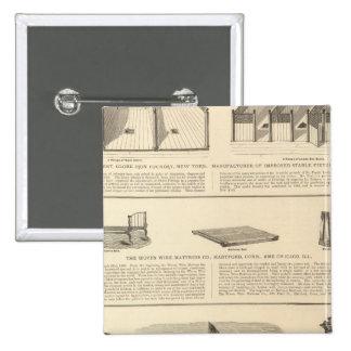 Globe Iron Foundry Woven Wire Mattress Company 15 Cm Square Badge