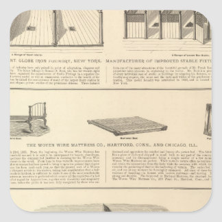 Globe Iron Foundry Woven Wire Mattress Company Square Sticker