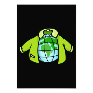 Globe Jacket 9 Cm X 13 Cm Invitation Card