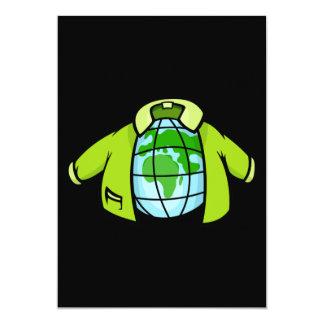 Globe Jacket 5x7 Paper Invitation Card