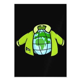 Globe Jacket Magnetic Invitations
