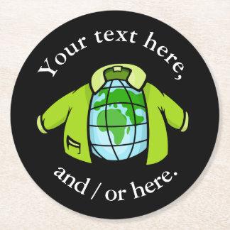 Globe Jacket Round Paper Coaster