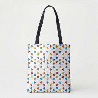 Globe Lines all over tote blue back