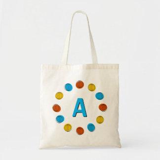 Globe Multi 'monogram' circle tote bag