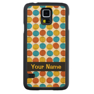 Globe 'Name' iPhone Samsung Galaxy S5 Carved Maple Galaxy S5 Case