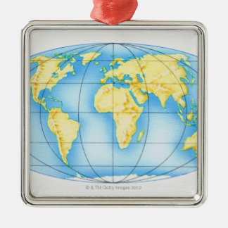 Globe of the World Christmas Ornament