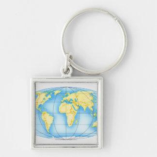 Globe of the World Key Ring
