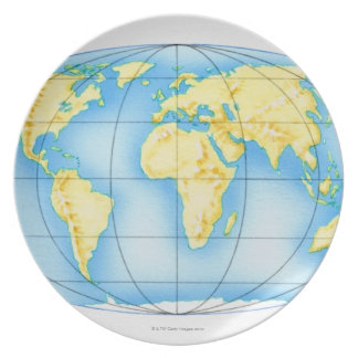 Globe of the World Plate