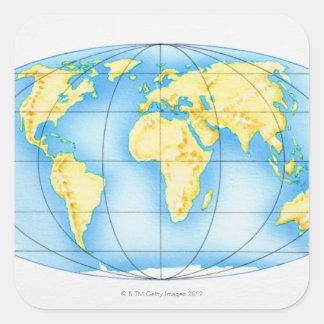 Globe of the World Square Sticker