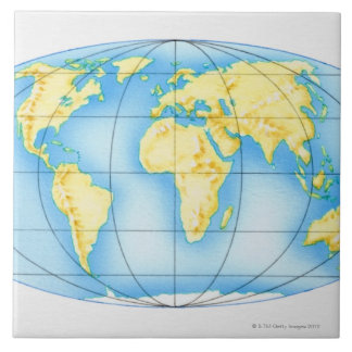 Globe of the World Tile