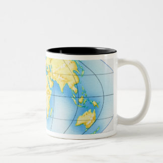 Globe of the World Two-Tone Coffee Mug