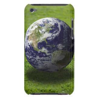 Globe on lawn 3 barely there iPod cover