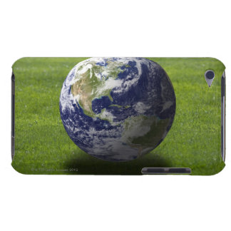 Globe on lawn 4 iPod touch case