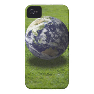 Globe on lawn iPhone 4 Case-Mate case