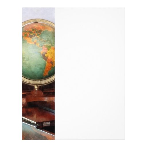 Globe on Piano Custom Flyer