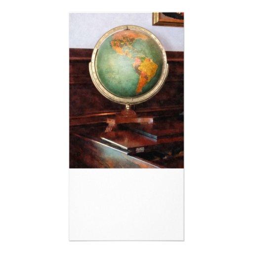 Globe on Piano Photo Card