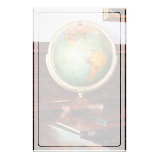 Globe on Piano Custom Stationery