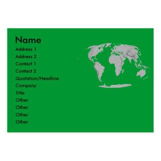 Globe Profile Card Business Card