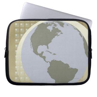 Globe Showing Americas Laptop Sleeve