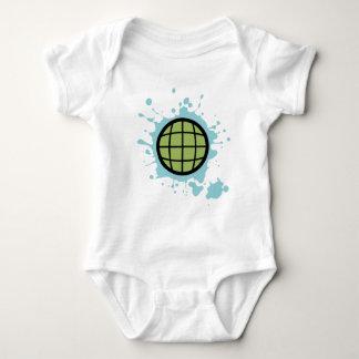 Globe Splotch. Baby Bodysuit