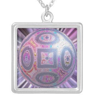 Globe Squared Square Pendant Necklace