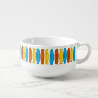 Globe Stripe soup bowl