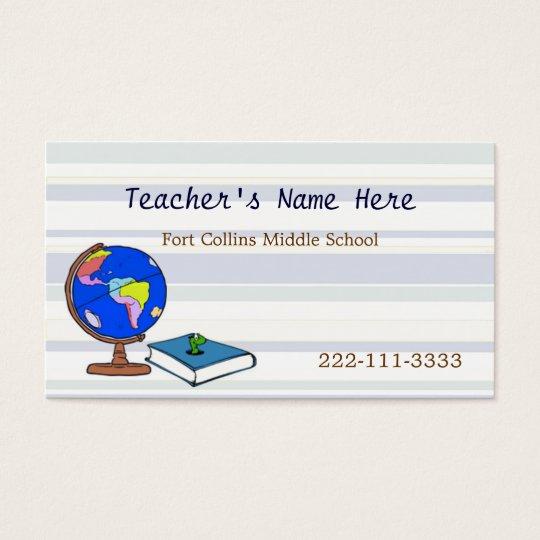 Globe Teachers Business Card