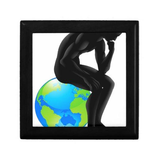Globe thinker concept trinket boxes