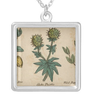 Globe Thistle Silver Plated Necklace