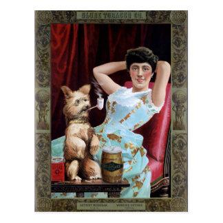 Globe Tobacco Co. Chew Globe Vintage Poster Postcard