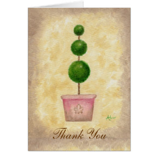 Globe Topiary thank you card
