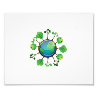 globe with colored trees growing.png photographic print