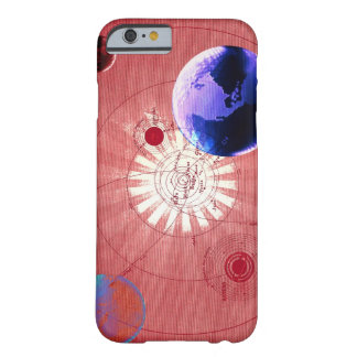 Globes with map of universe barely there iPhone 6 case