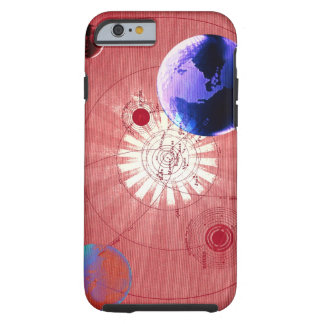 Globes with map of universe tough iPhone 6 case