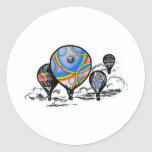 globos etiquetas redondas