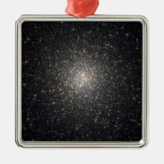 Globular cluster NGC 2808 Silver-Colored Square Decoration
